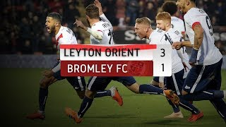 HIGHLIGHTS: Leyton Orient 3-1 Bromley