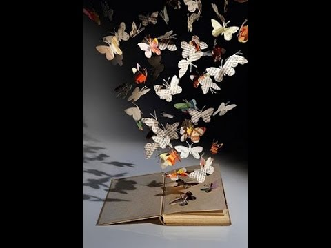 diy inspiration butterfly book sculpture by upcycling