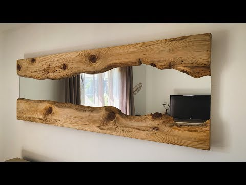 Transformation d'un simple miroir Ikea (Live edge mirror)