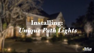 Unique Path Lighting | Behind The Scenes Installation | McKay Landscape Lighting - Omaha Nebraska