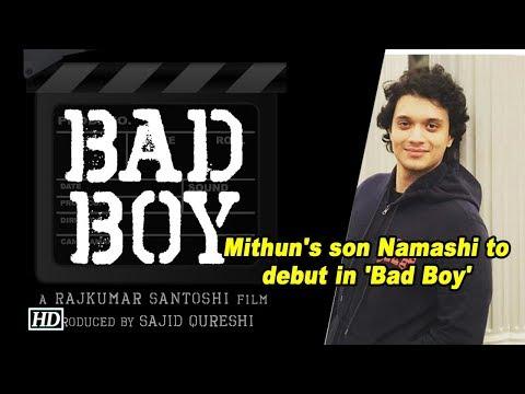 Mithun's son Namashi to debut in Rajkumar Santoshi's 'Bad Boy'