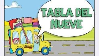 Canciones las Tablas de Multiplicar del 1 al 10 - TABLA DEL NUEVE (9)