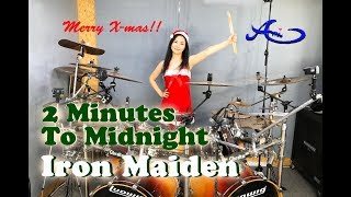 Iron Maiden - 2 Minutes to Midnight drum cover by Ami Kim (#62)