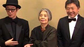 是枝裕和監督&リリー・フランキー、公式グッズはポーチを購入/映画『万引き家族』カンヌ囲み会見2