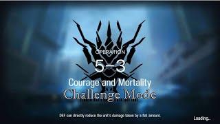 Ptilopsis  - (Arknights) - Arknights 5-3 Challenge Mode(CM)(no 6^star operator expect Skadi)
