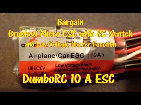 Bargain Brushed Micro-ESC, light switch and low voltage buzzer
