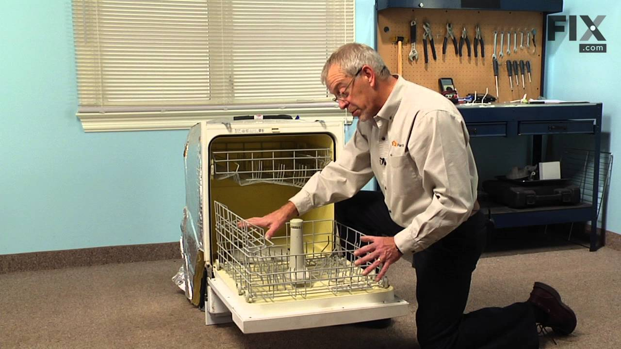 Replacing your Maytag Dishwasher Lower Dishrack with Wheels