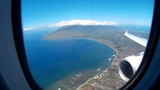 Hawaiian Airlines A330 - Kahului Maui Approach and Landing