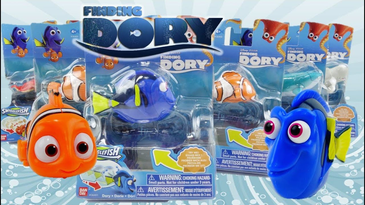 Disney Finding Dory Movie Toys Swigglefish - Dory, Destiny, Bailey, Marlin, Hank, Nemo Kids Toys