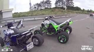 Квадроциклы Yamaha. Прокатились на квадриках до Подольска.