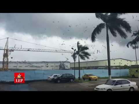Ráfaga de viento deja sin techo a siete viviendas en Colón
