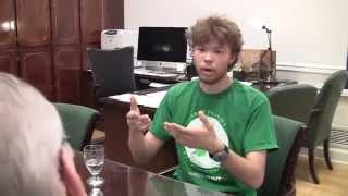 President Smatresk and National Merit Scholar talk academics (2014)
