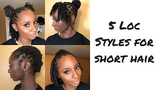 How To: Five Loc Styles For Short Hair   MRSBREAUXBODY