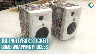 JBL Partybox Sticker Bomb Wrapping Process