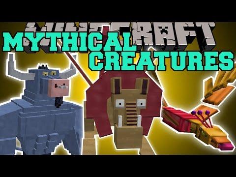Minecraft: MYTHICAL CREATURES (MANTICORE, PHOENIX, MINOTAUR & MORE!) Mod Showcase
