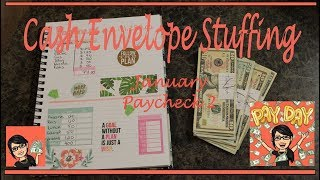 CASH ENVELOPE STUFFING 💵 | January Paycheck 2 | Dave Ramsey Inspired