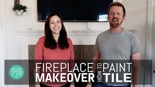 What to paint fireplace tile with