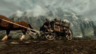 Skyrim - Путешествие из Вайтрана в Рифтен на повозке.