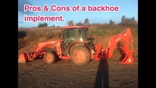 pros and cons of a backhoe implement & what can it do?