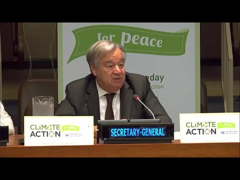 """Without peace with nature we ll be doomed"" - UN Chief on Int l Peace Day"