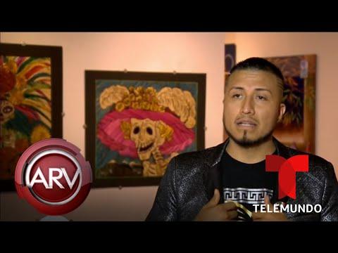 Hombre sobrevive grave enfermedad y se convierte en artista de popotillo | Al Rojo Vivo | Telemundo