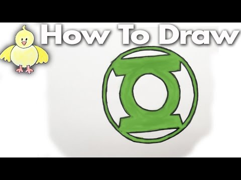 How to draw the Green Lantern Logo - step by step