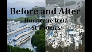 Hurricane Irma - Before and After Ft. St Thomas/St Martin/Virgin Isles. Natural Disaster