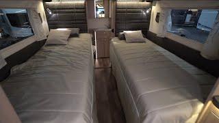 -50°C: Barrierefreies Luxus Wohnmobil Kabe Crown i810 LT 2021 Längsbetten Heckbad Mercedes Sprinter