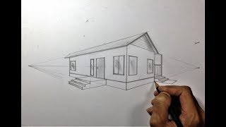 ARCHITECTURAL │How To Draw A Simple House In 2 Point Perspective #18