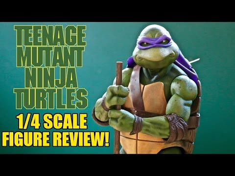 NECA 1/4 Scale 1990 TMNT Donatello Figure- Collectable Review!