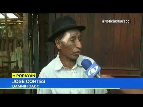 Dos adultos mayores resultaron heridos al desplomarse vivienda en Popayan, Cauca