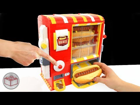 LEGO Hot Dog Machine with Ketchup, Mayka Tape and Mustard