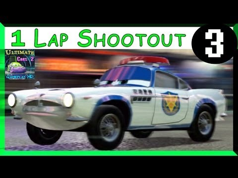Airport Security Finn McMissile Cars 2 Hard Difficulty One Lap Shootout On Ginza Sprint Part 3