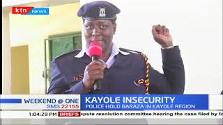 Kayole Police holds a baraza to discuss security matters of the area