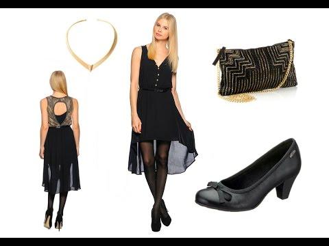 Chiffon Vokuhila Kleid vorne kurz hinten lang + Outfit Tipps