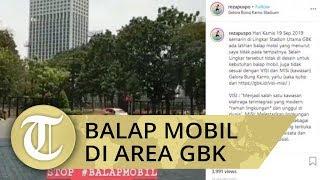 Viral Video Balapan Mobil di Area Gelora Bung Karno, Koalisi Pejalan Kaki Beri Tanggapan