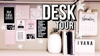 DESK TOUR 2019 - DIY CUBICLE DECOR