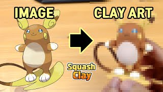 Raichu  - (Pokémon) - Pokémon Clay Art: Alolan Raichu Electric/Psychic Pokémon!!