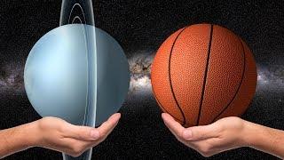 Planet Tata Surya Dan Bola: Ukuran Relatif