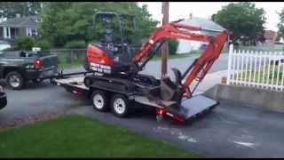how to operate a mini excavator kubota tutorial
