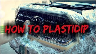 COMPLETE In Depth TUTORIAL HOW TO PLASTIDIP Toyota Tacoma