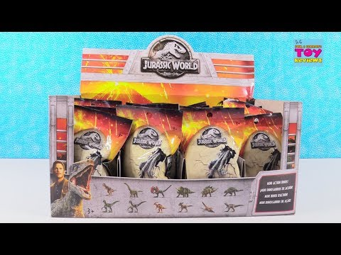 Jurassic World Mini Action Dino Blind Bag Figures Opening Toy Review | PSToyReviews