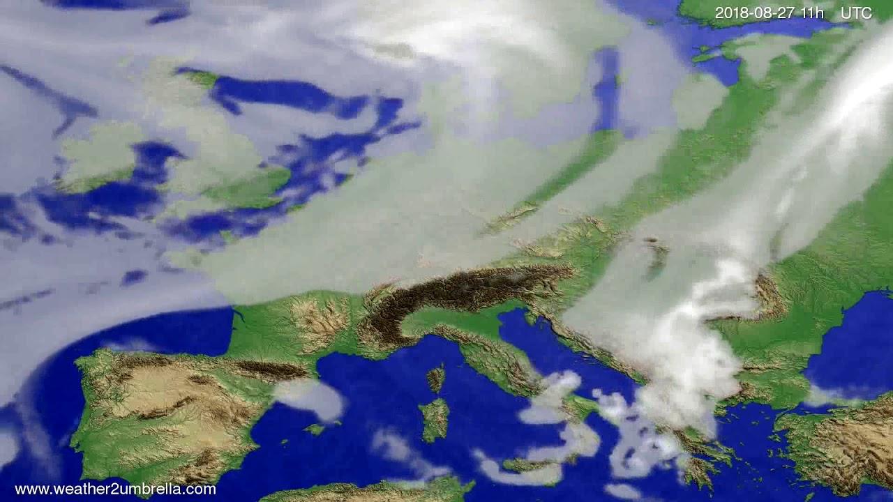 Cloud forecast Europe 2018-08-24
