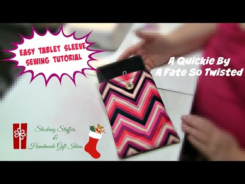 Easy Tablet Sleeve Sewing Tutorial