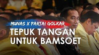Ketika Presiden Jokowi Ajak Kader Golkar Tepuk Tangan untuk Bamsoet