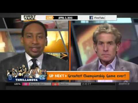 ESPN FIRST TAKE 4 5 2016 WAS VILLANOVA UNC THE GREATEST NATIONAL CHAMPIONSHIP GAME EVER    YouTube