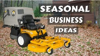 Winter OFFSEASON Money Making Lawn Care Business Ideas, Doing Fall Cleanup