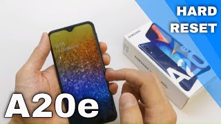 Samsung Galaxy A20e Hard reset - Remove Pattern/Pin/Face/Finger Lock