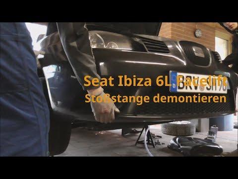 Seat Ibiza 6L Facelift Stoßstange vorne abbauen