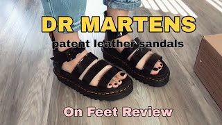 DR MARTENS Patent Leather Sandals Review